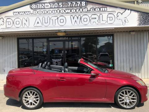 2010 Lexus IS 350C for sale at Don Auto World in Houston TX