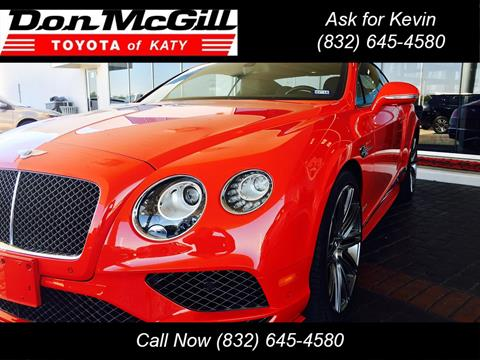 2016 Bentley Continental GT Speed for sale in Katy, TX