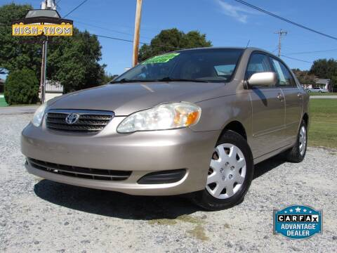 2007 Toyota Corolla for sale at High-Thom Motors in Thomasville NC