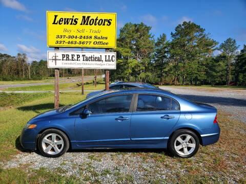 2008 Honda Civic for sale at Lewis Motors LLC in Deridder LA