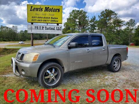 2007 Nissan Titan for sale at Lewis Motors LLC in Deridder LA