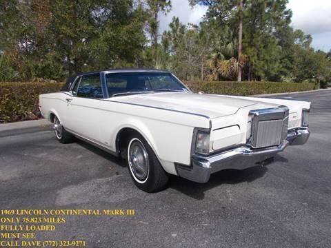 1969 Lincoln Continental For Sale  Carsforsalecom