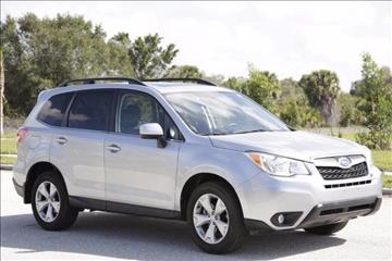 2015 Subaru Forester for sale at ATLAS AUTO in Venice FL