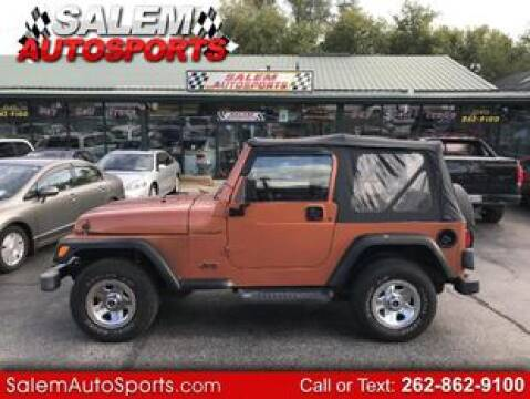 2001 Jeep Wrangler for sale in Trevor, WI