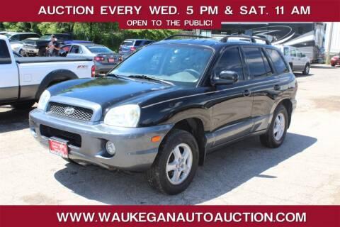 2002 Hyundai Santa Fe for sale at Waukegan Auto Auction in Waukegan IL
