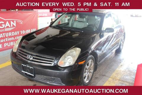 2005 Infiniti G35 for sale at Waukegan Auto Auction in Waukegan IL