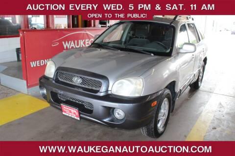 2003 Hyundai Santa Fe for sale at Waukegan Auto Auction in Waukegan IL