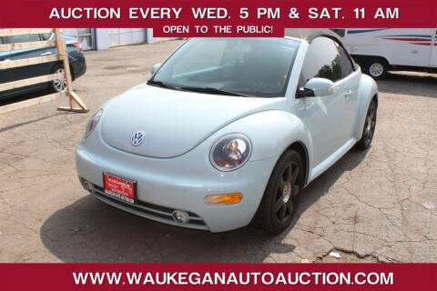 2003 Volkswagen New Beetle Convertible for sale at Waukegan Auto Auction in Waukegan IL