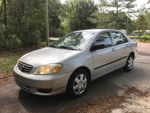2004 Toyota Corolla for sale at Park Place Motors LLC in Gainesville FL