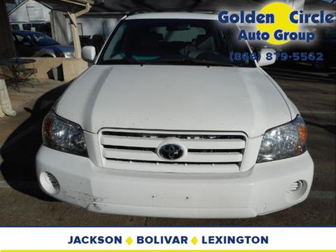2004 Toyota Highlander for sale at Golden Circle Auto Group in Memphis TN