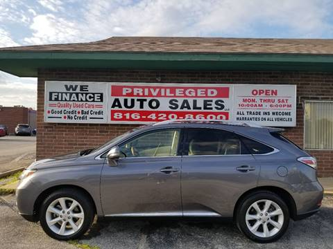 2012 Lexus RX 350 for sale at Privileged Auto Sales in Gladstone MO