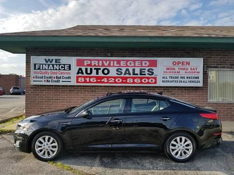 2015 Kia Optima for sale at Privileged Auto Sales in Gladstone MO