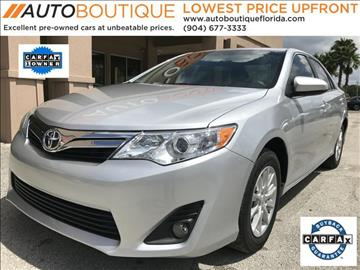 2013 Toyota Camry for sale at Auto Boutique Florida in Jacksonville FL