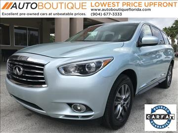 2013 Infiniti JX35 for sale at Auto Boutique Florida in Jacksonville FL
