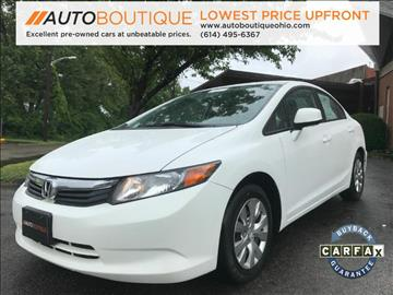 2012 Honda Civic for sale at Auto Boutique in Columbus OH