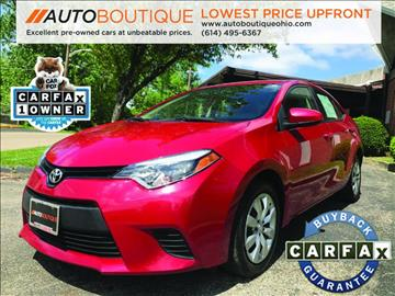 2014 Toyota Corolla for sale at Auto Boutique in Columbus OH