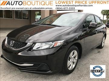 2013 Honda Civic for sale at Auto Boutique Florida in Jacksonville FL