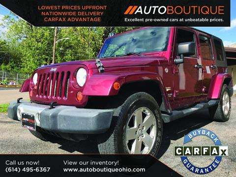 2008 Jeep Wrangler Unlimited for sale at Auto Boutique in Columbus OH