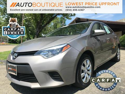 2015 Toyota Corolla for sale at Auto Boutique in Columbus OH