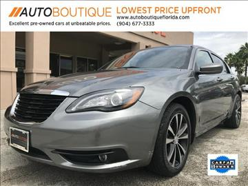 2013 Chrysler 200 for sale at Auto Boutique in Jacksonville FL