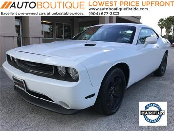 2013 Dodge Challenger for sale at Auto Boutique in Jacksonville FL
