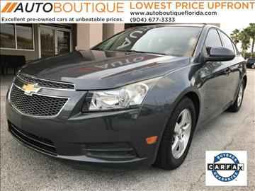 2013 Chevrolet Cruze for sale at Auto Boutique in Jacksonville FL