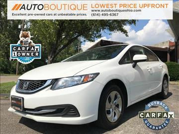 2014 Honda Civic for sale at Auto Boutique Ohio in Columbus OH