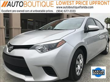 2014 Toyota Corolla for sale at Auto Boutique in Jacksonville FL