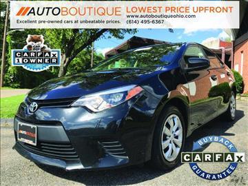 2014 Toyota Corolla for sale at Auto Boutique Ohio in Columbus OH
