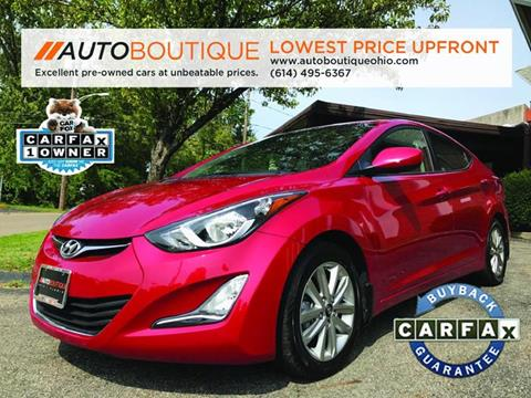 2015 Hyundai Elantra for sale at Auto Boutique Ohio in Columbus OH