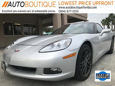 2013 Chevrolet Corvette for sale at Auto Boutique in Jacksonville FL