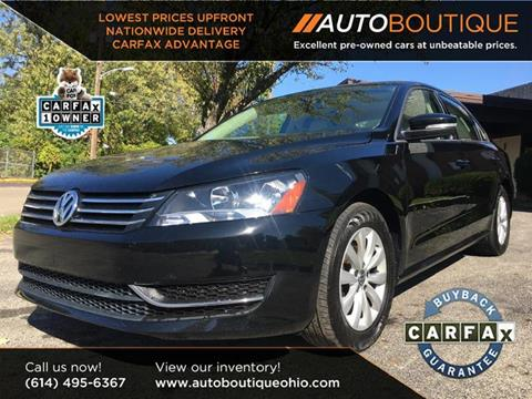 2013 Volkswagen Passat for sale at Auto Boutique Ohio in Columbus OH