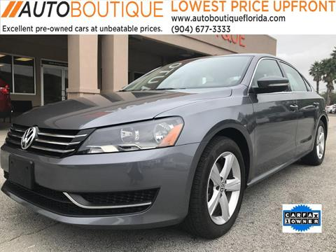 2015 Volkswagen Passat for sale in Jacksonville, FL