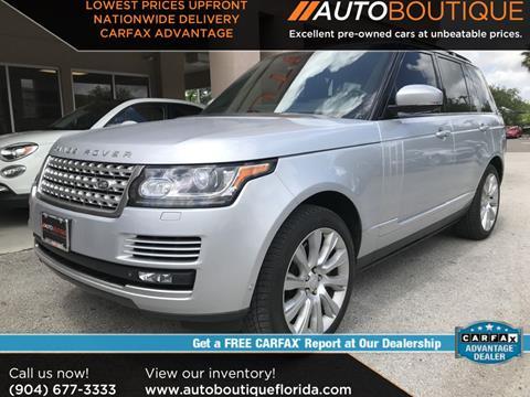 Land Rover Jacksonville >> Used Land Rover Range Rover For Sale In Jacksonville Fl