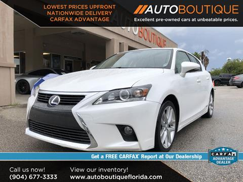 Used Lexus For Sale In Ct >> 2016 Lexus Ct 200h For Sale In Jacksonville Fl