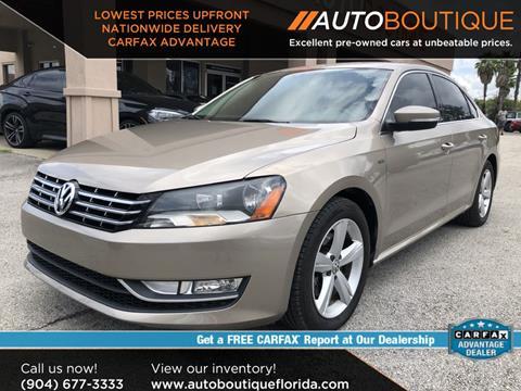 Cars For Sale Jacksonville Fl >> 2015 Volkswagen Passat For Sale In Jacksonville Fl