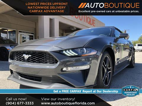 Cars For Sale Jacksonville Fl >> 2018 Ford Mustang For Sale In Jacksonville Fl