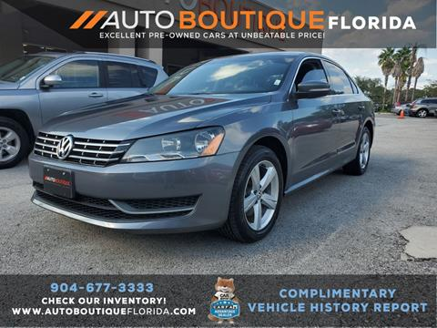 2013 Volkswagen Passat for sale in Jacksonville, FL