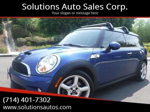 Mini Cooper Clubman For Sale In Orange Ca Solutions Auto Sales Corp