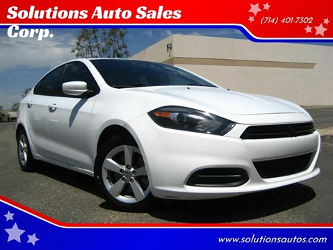 2016 Dodge Dart for sale at Solutions Auto Sales Corp. in Orange CA