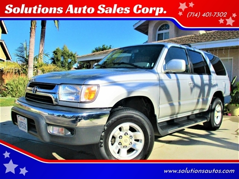 2002 Toyota 4Runner SR5 for sale at Solutions Auto Sales Corp. in Orange CA