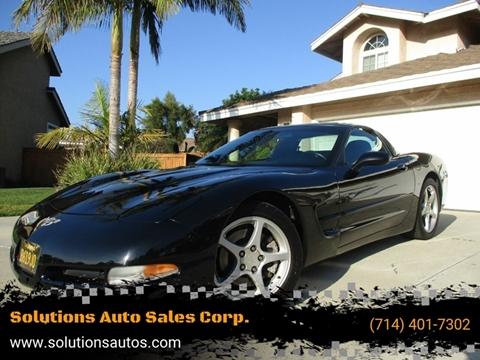 2003 Chevrolet Corvette for sale at Solutions Auto Sales Corp. in Orange CA