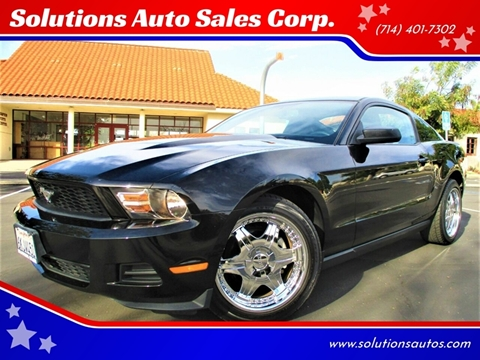 2010 Ford Mustang V6 Premium for sale at Solutions Auto Sales Corp. in Orange CA