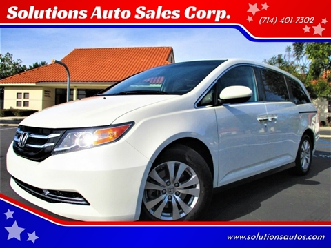 2015 Honda Odyssey EX for sale at Solutions Auto Sales Corp. in Orange CA