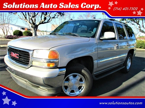 2005 GMC Yukon SLT for sale at Solutions Auto Sales Corp. in Orange CA