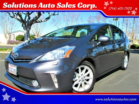 2013 Toyota Prius v Five for sale at Solutions Auto Sales Corp. in Orange CA