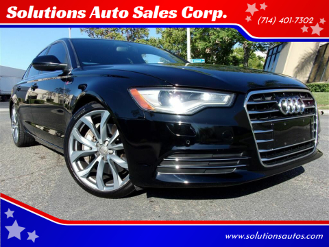 2013 Audi A6 for sale at Solutions Auto Sales Corp. in Orange CA