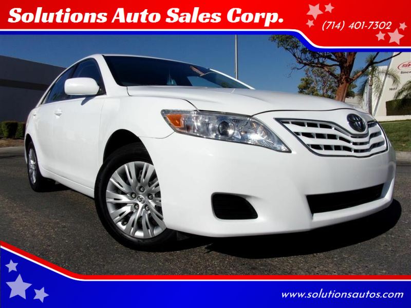 2010 Toyota Camry for sale at Solutions Auto Sales Corp. in Orange CA