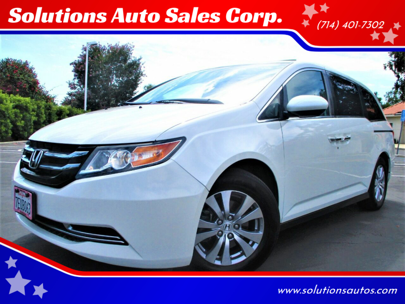 2014 Honda Odyssey for sale at Solutions Auto Sales Corp. in Orange CA