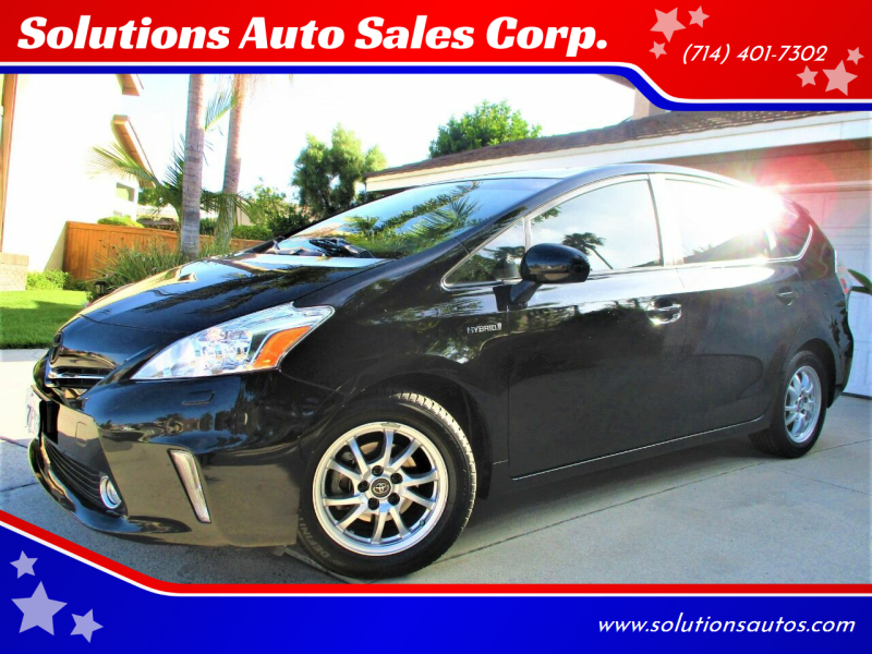 2014 Toyota Prius v for sale at Solutions Auto Sales Corp. in Orange CA